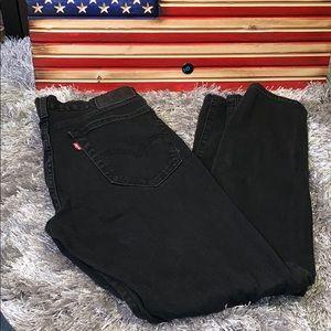 Levi's black jeans men's